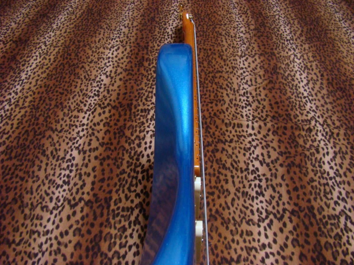 REAL SUPER CUSTOM!◆no Fender stratocaster 青/金 ストラトキャスター ストラト 7way SLOOP Neck!Lindy ラッカー 赤茶げNeck So Cool!_画像9