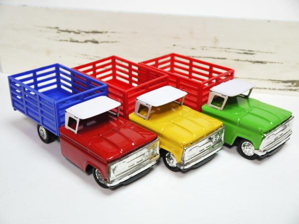 当時物 ブリキ 貨物車 3色セット 日本製 フリクションモーター 動力 車 昭和レトロ ビンテージ おもちゃ 玩具 希少 レア _画像1