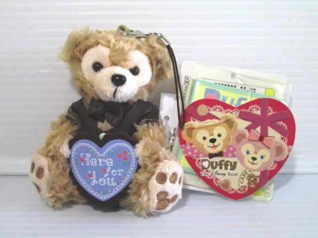 【美品】 ★ TOKYO Disny SEA ★ ストラップ Duffy ダッフィー バレンタイン 全長8㎝