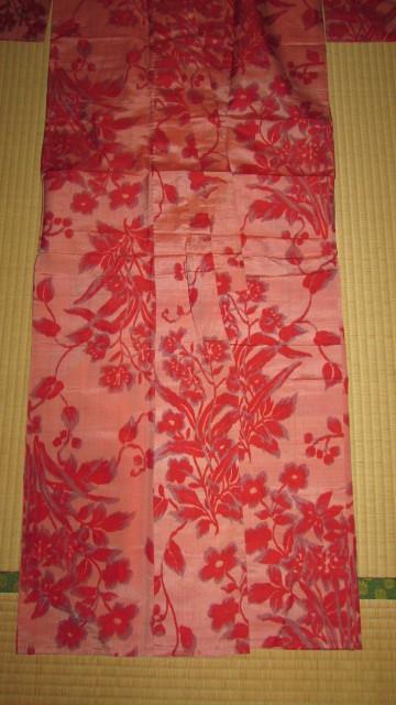 ( старый дом * поставка со склада )( старый ткань *. цветок узор ткань .. одиночный . кимоно )
