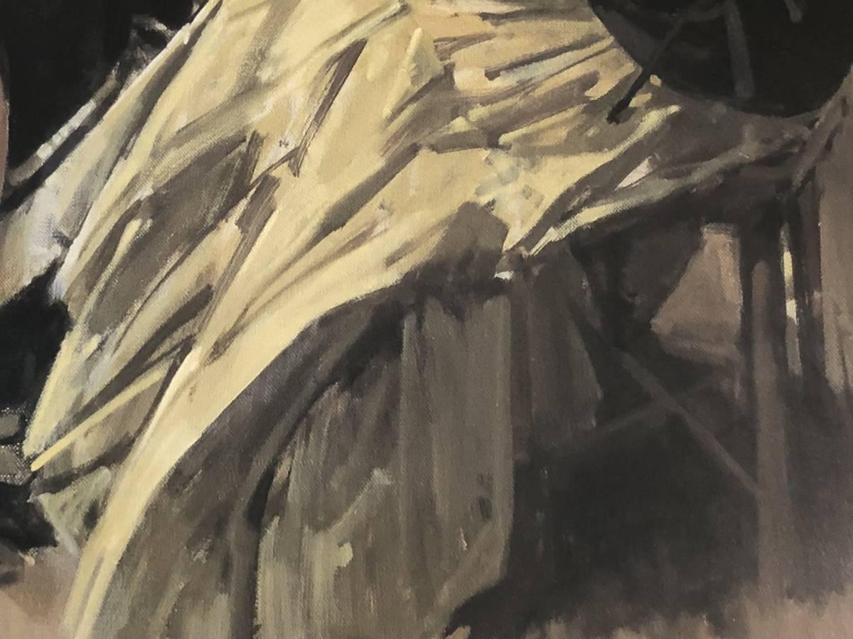小磯良平 パステル 絵画 美術品 ryouhei koiso 複製画  中古_画像6