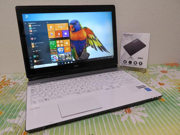 タッチパネル 【高速Core i7(Haswell)★爆速新SSD640GB】LL750/M NEC ホワイト 最新Win10