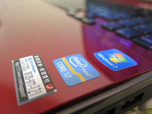 【高速Core i7★爆速新SSD320GB】NEC LL750/F レッド 最新Windows10 ★ メモリ8GB Wi-Fi Blu-ray Office2016 スピーカー高音質YAMAHA製_画像7