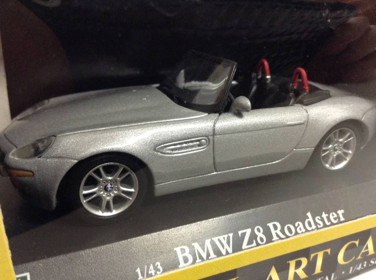 BMW Z8 ロードスター E52 2000年~2003年 1/43 約10cm ミニカー ホンウェル 007 ボンドカー 送料¥350 新品同様品_外箱にスレキズがあります。