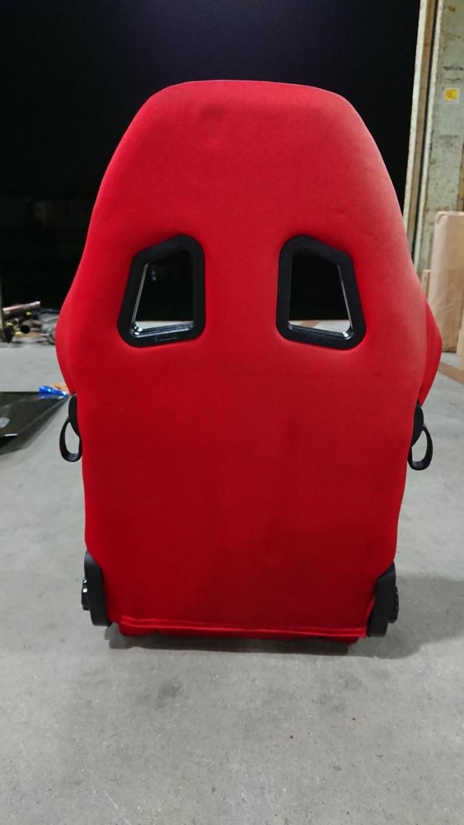 スパルコ star 赤 リクライニング機能付きバケットシート 中古品 レカロ ジャンク品 格安_画像5
