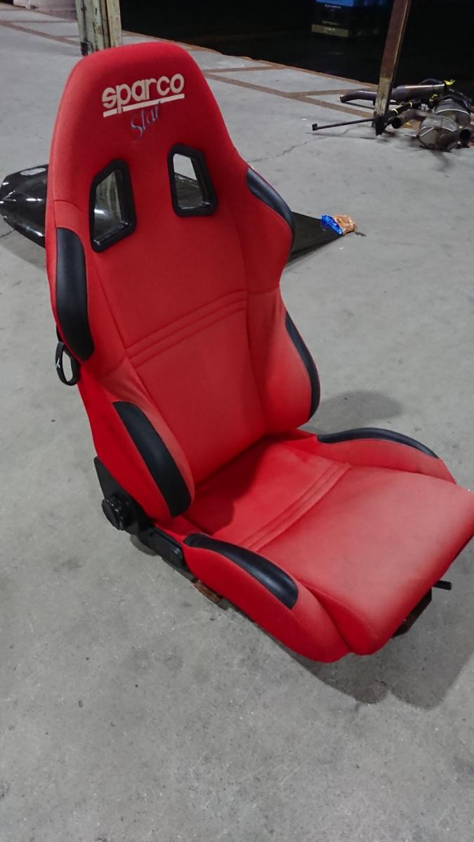 スパルコ star 赤 リクライニング機能付きバケットシート 中古品 レカロ ジャンク品 格安_画像3