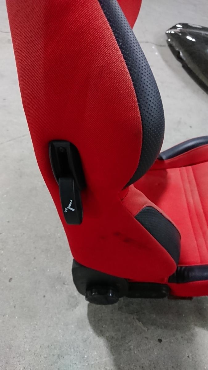 スパルコ star 赤 リクライニング機能付きバケットシート 中古品 レカロ ジャンク品 格安_画像7