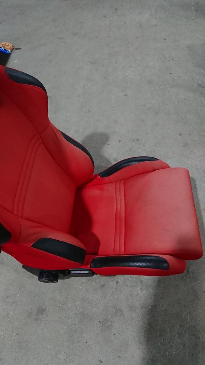 スパルコ star 赤 リクライニング機能付きバケットシート 中古品 レカロ ジャンク品 格安_画像4