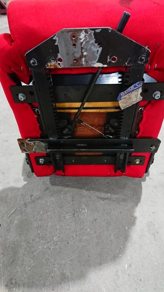 スパルコ star 赤 リクライニング機能付きバケットシート 中古品 レカロ ジャンク品 格安_画像9