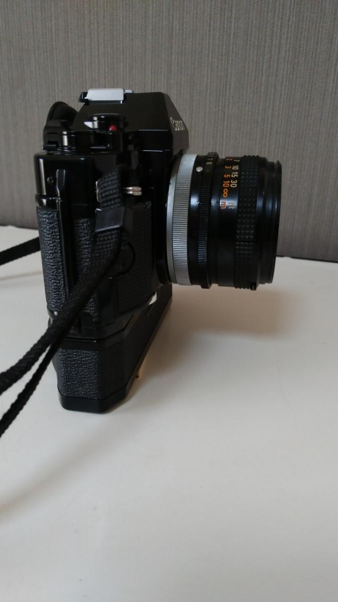 Canon A-1 パワーワインダー A 50㎜ 1:1.8 名機 一眼レフ/フィルムカメラ 使用説明書つき キャノン ブラック レンズセット 昭和レトロ_画像7