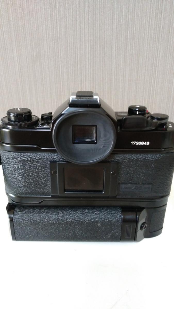 Canon A-1 パワーワインダー A 50㎜ 1:1.8 名機 一眼レフ/フィルムカメラ 使用説明書つき キャノン ブラック レンズセット 昭和レトロ_画像4