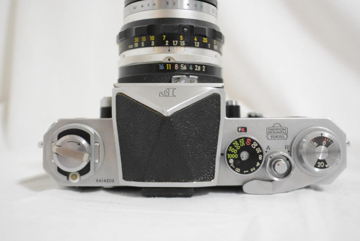32EVB Nikon/ニコン 「Nikon F アイレベルファインダー シルバー 6414203」+「Nikkor-S Auto 50㎜ F2 単焦点レンズ」 セット 現状品_画像4