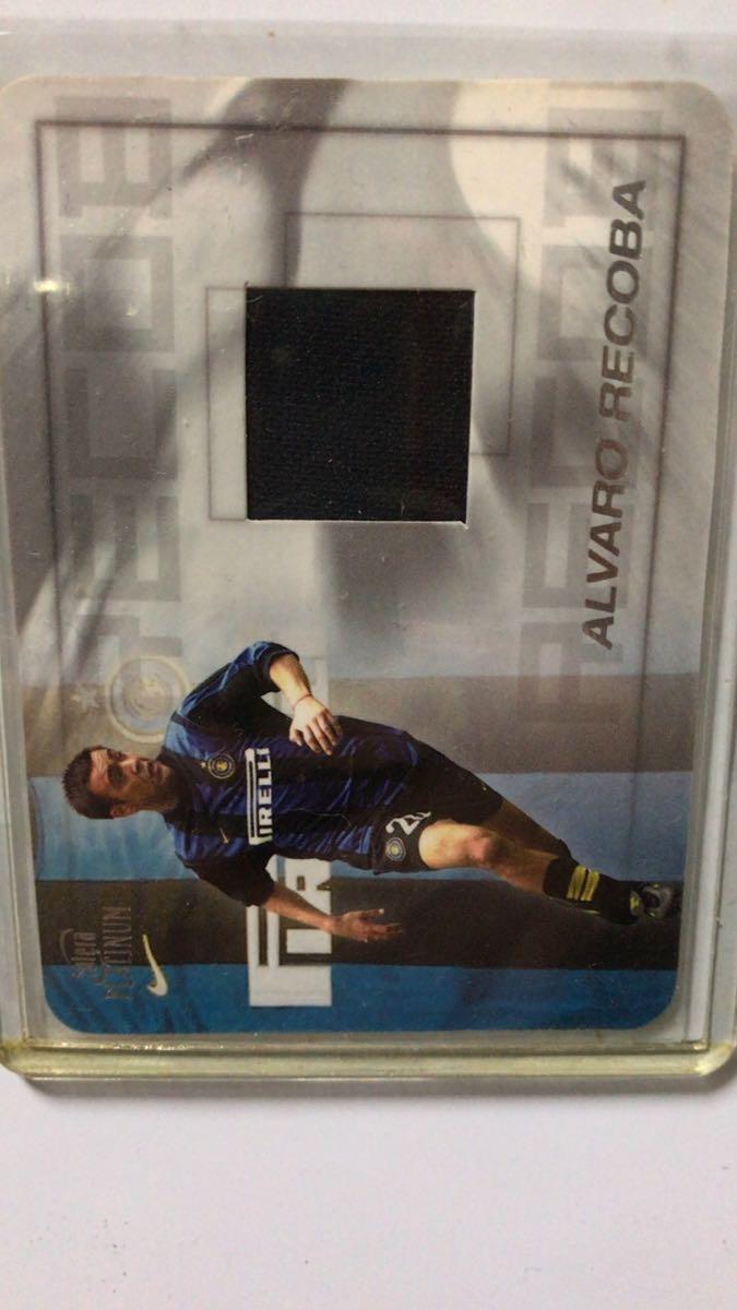Alvaro Recoba DS Inter2000オートグラフカード+futera PLATINUMジャージーカード_画像2