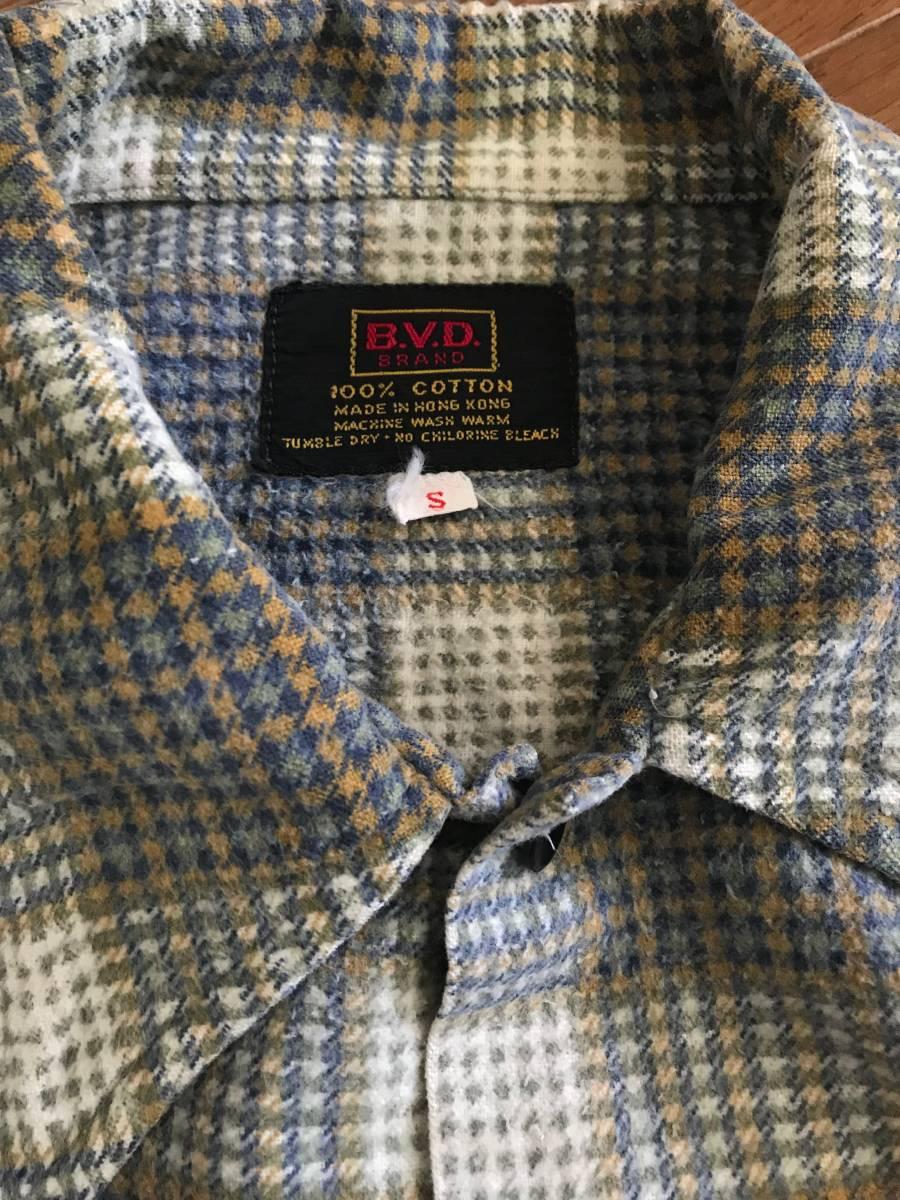 60s 70s ビンテージ BVD チェック柄 ネルシャツ フランネル / BIGMAC BIG YANK FIVE BROTHER_画像2