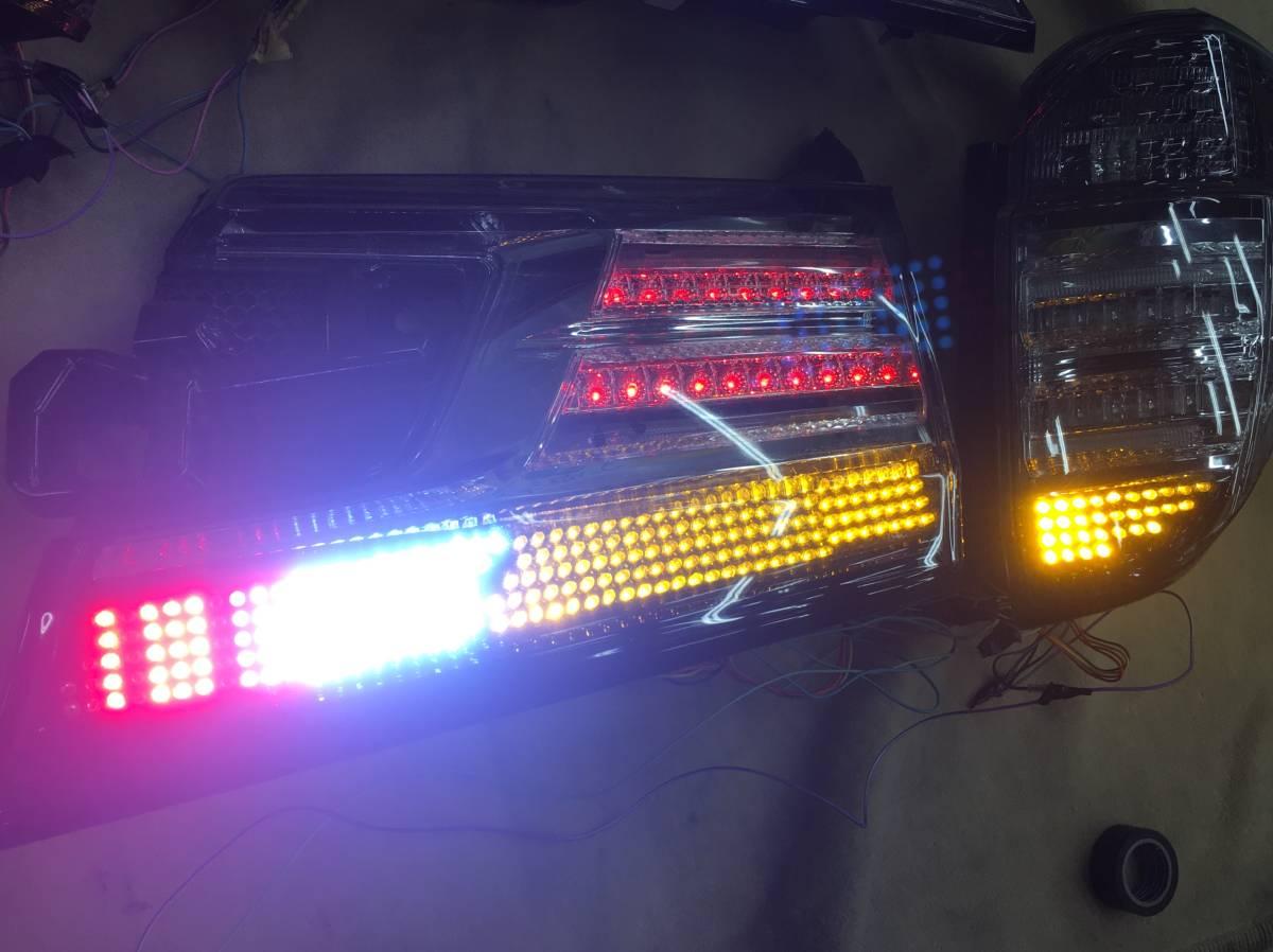 30ヴェルファイア 加工済テール シーケンシャルウインカー LEDバックランプ バックフォグ_画像8