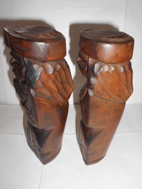 レア 昭和レトロ 北海道 アイヌ民芸品木彫りの置物2点_画像2