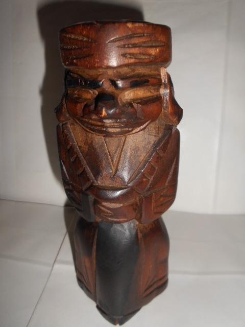 レア 昭和レトロ 北海道 アイヌ民芸品木彫りの置物2点_画像9