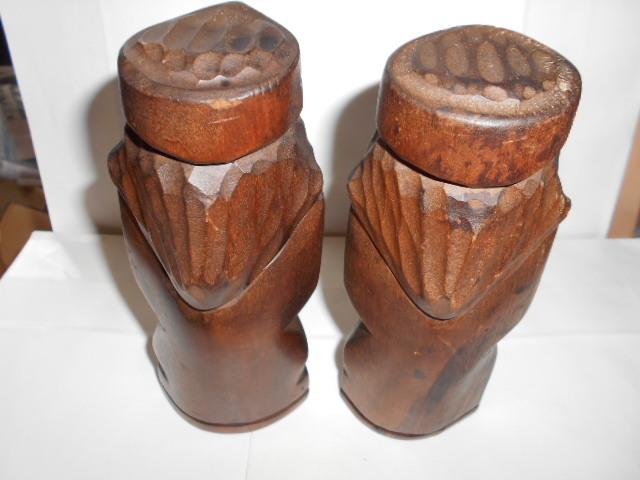 レア 昭和レトロ 北海道 アイヌ民芸品木彫りの置物2点_画像4