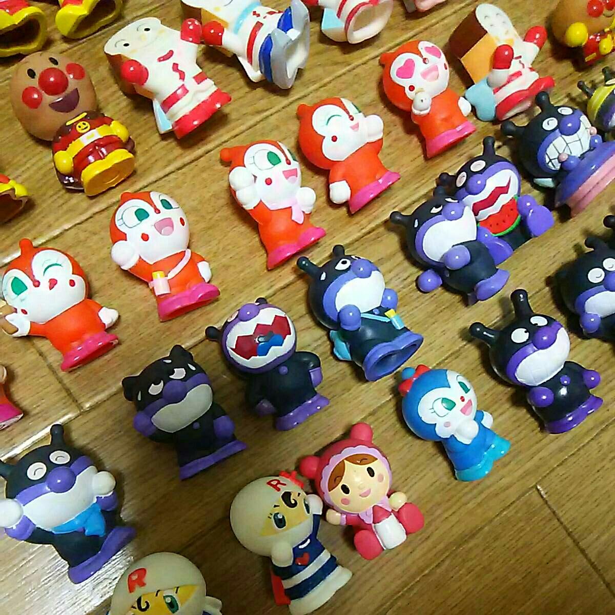 ダブリなしアンパンマン指人形他フィギュア106体セット ソフビ マスコットキャラクターやなせたかし まとめて まとめ売り大量 たくさんミニ_画像10