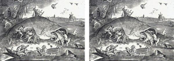 ピーテル・ブリューゲル『 大きな魚は小さい魚を食う 』のマグカップ :フォトマグ(世界の名画シリーズ)_大きな魚は小さい魚を食う