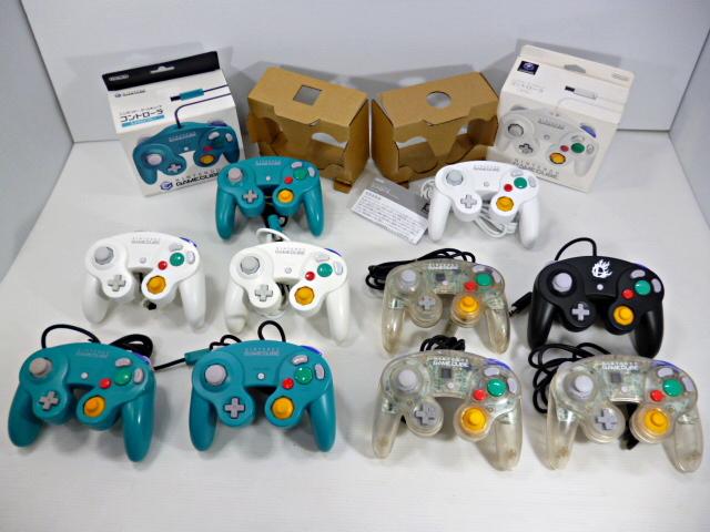 ★スマブラ有り 人気カラー多数 ゲームキューブ コントローラー (箱あり2個含む) 計10個セット