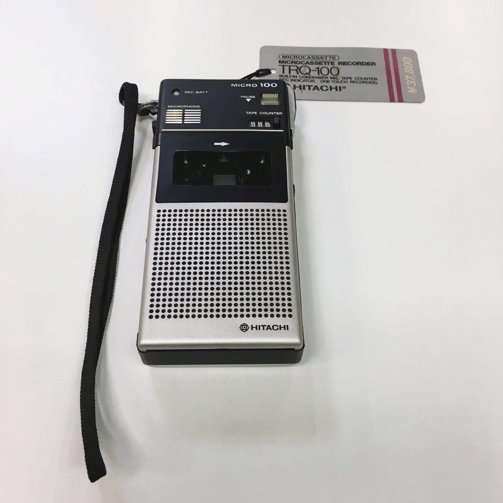 激レア 希少 日立 新品未使用 タグ付き マイクロカセットレコーダー TRQ-100 コレクション アンティーク
