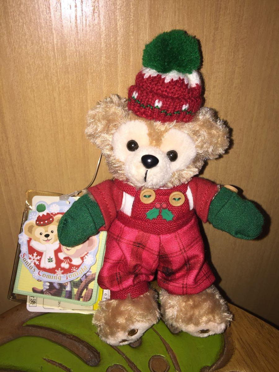 1円~【新品タグ付き】ダッフィーのクリスマス2013年 ダッフィー ぬいぐるみバッジ ぬい