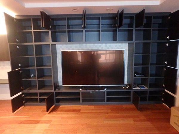 ABR63 その他 展示品 造作家具 TVボード テレビ台 システムラックセット TVは付属しません W5320 H2500_画像2
