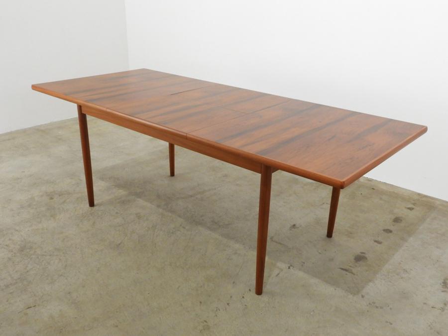 """美品 天童木工 """"TENDO BRASILEIRA"""" ブラジリアンローズウッド エクステンションテーブル70年代/北欧モダンウェグナーデンマーク"""