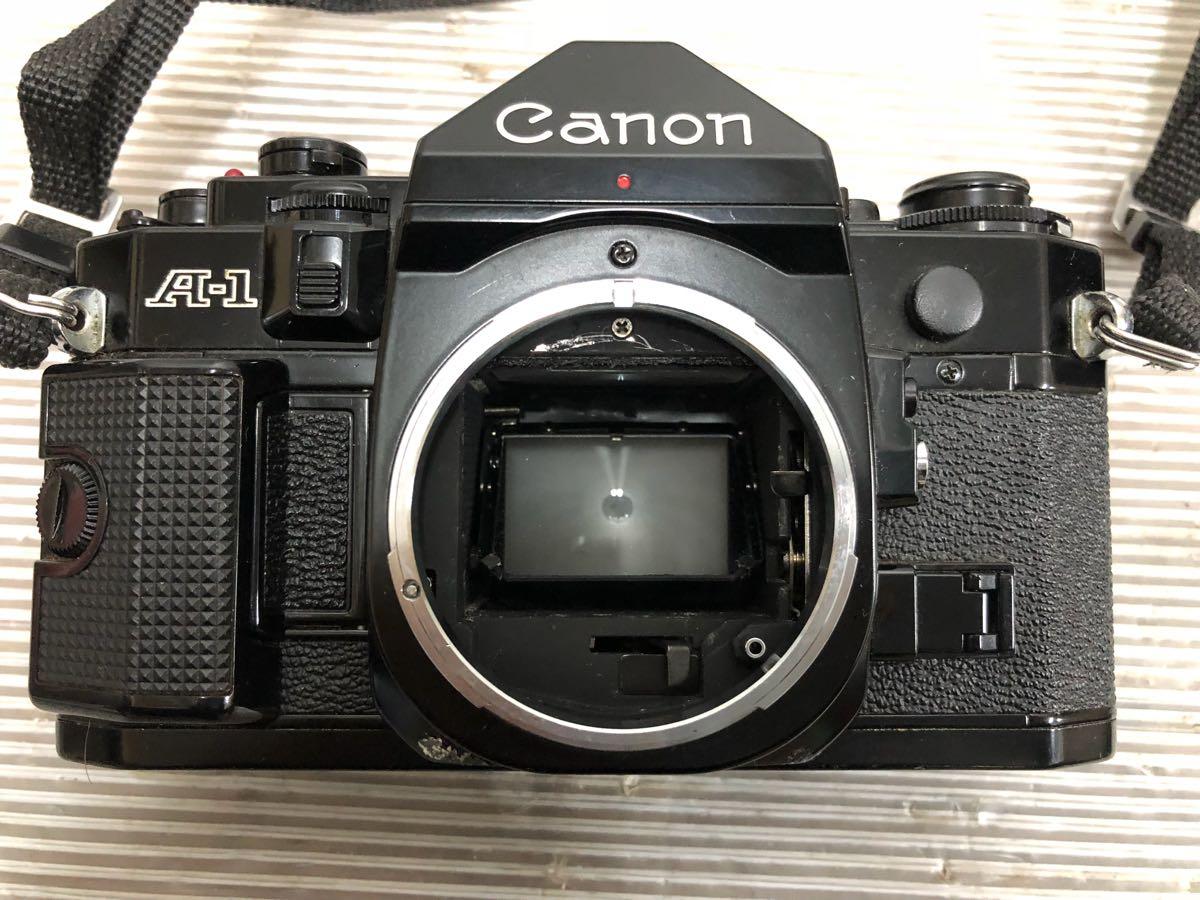 411-6 キャノン CANON A-1 ブラックボディ 一眼レフ レンズ FD 35-105㎜ 1:3.5/FD50㎜ 1:1.2 レンズ2点セット】OK3278_画像3