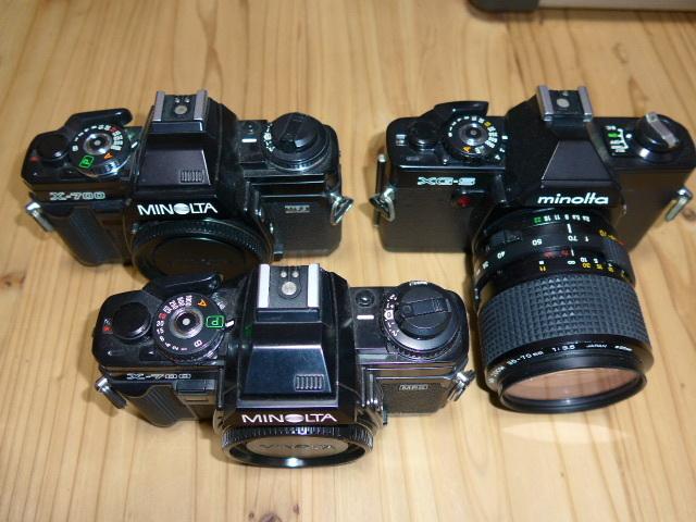 ミノルタX700が2台、XG-Sとレンズ1本のセットです。_画像2