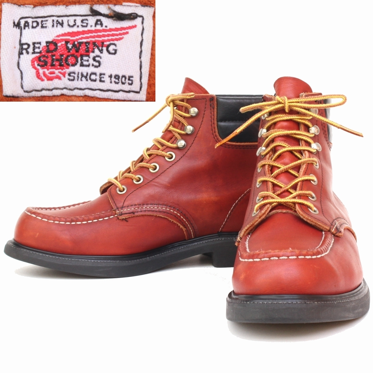 8f212a50586 yk89999) beautiful goods 97 year made REDWING old 8804 Red Wing 8E ...