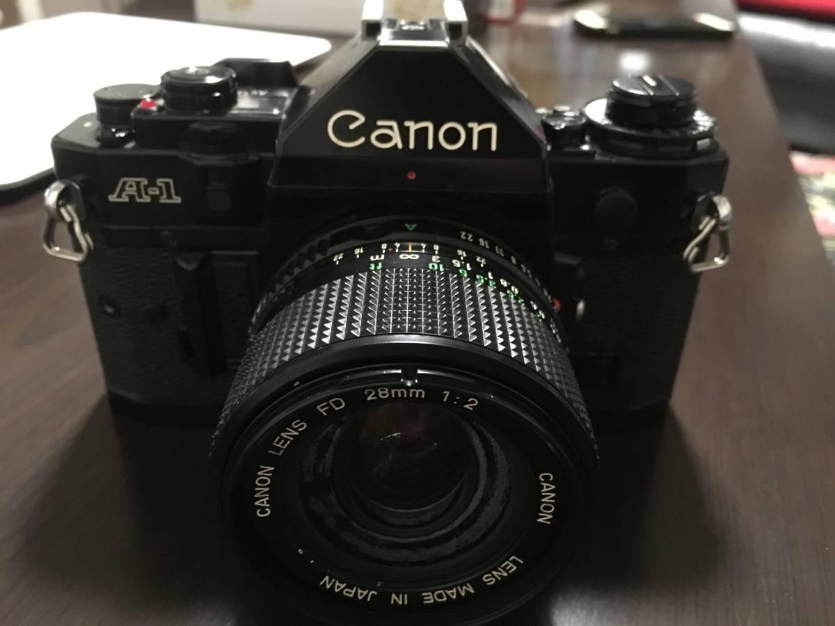 1円~☆CANON キャノン A-1 一眼レフカメラ レンズ FD 28mm 1:2