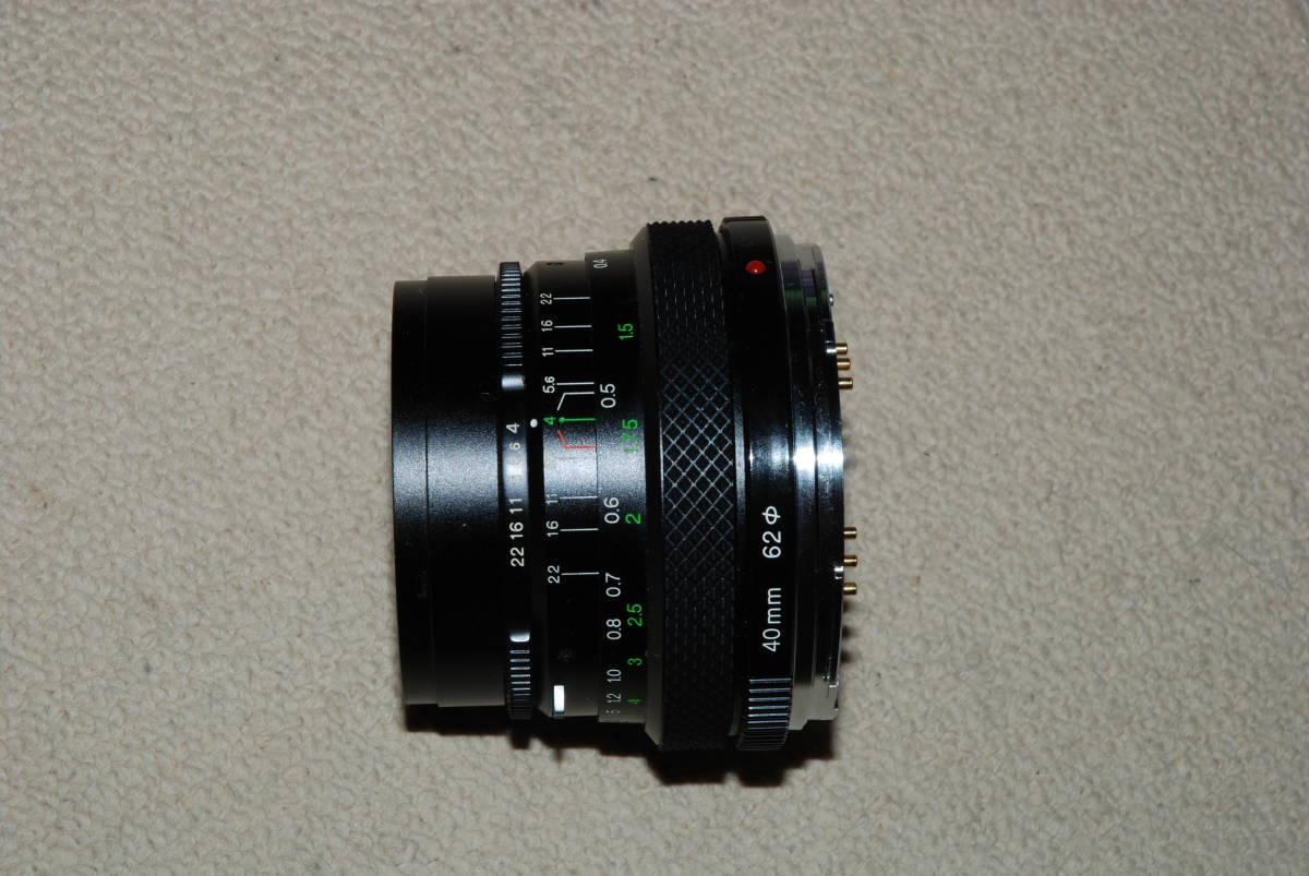 ゼンザ ブロニカ ZENZA BRONICA MC ETRS 1:4 40mm レンズ ジャンク_画像3