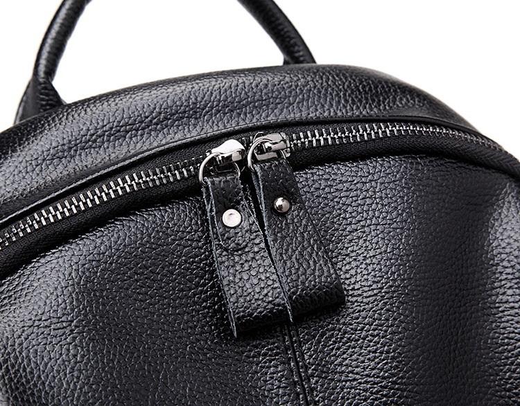 新品 レディース リュックサック ファッション 軽量 通勤 通学 本革 黒_画像5