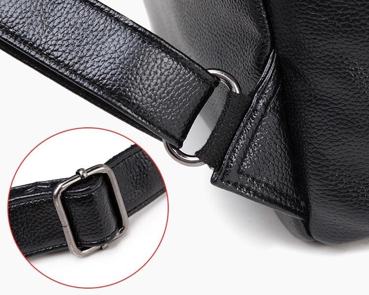 新品 レディース リュックサック ファッション 軽量 通勤 通学 本革 黒_画像6