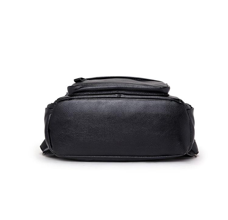 新品 レディース リュックサック ファッション 軽量 通勤 通学 本革 黒_画像4