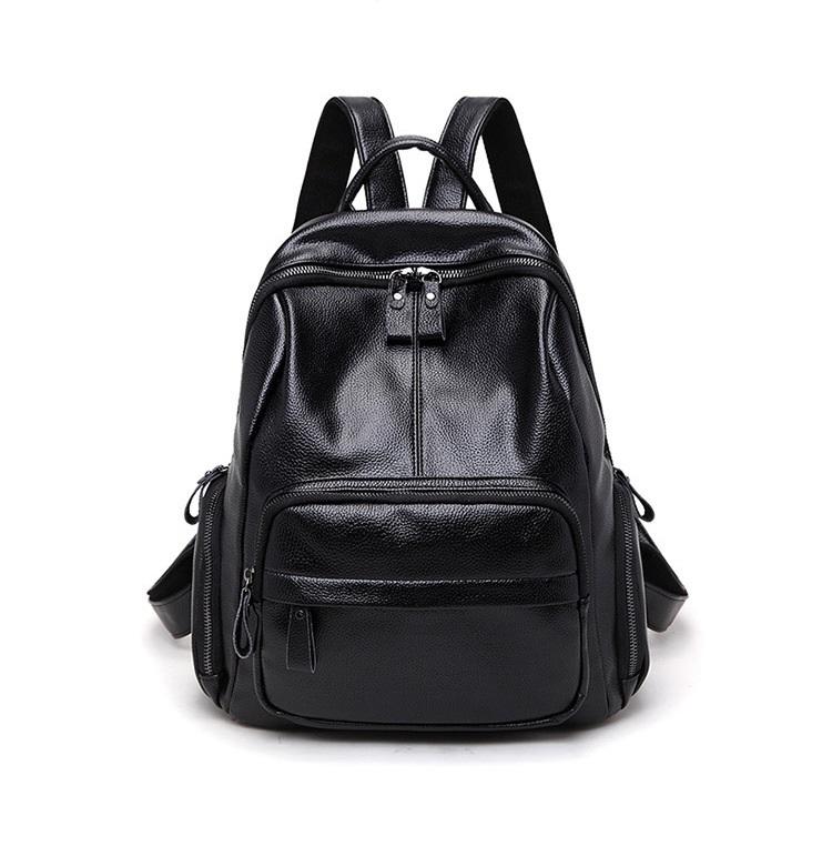 新品 レディース リュックサック ファッション 軽量 通勤 通学 本革 黒