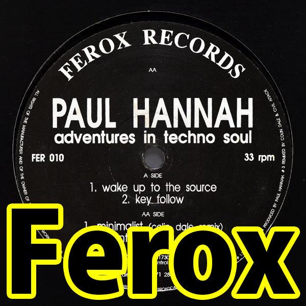 [限界最安値/ウォッチ2/即決2,500円/Russ Gabriel Too Funk 別名義/Colin Dale] Paul Hannah Adventures In Techno Soul Ferox Records_画像1