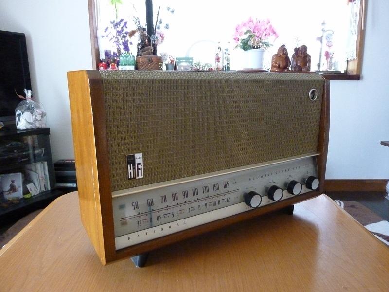 真空管ラジオ 昭和のナショナル2バンド、AH-740整備済み。_画像2