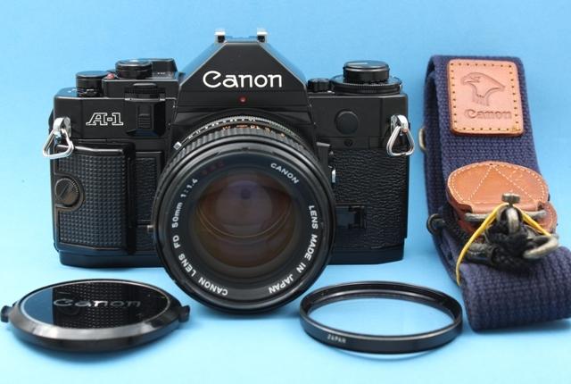 良品 Canon A-1 と FD 50mm 1:1.4 SSC 作動確認済み シャッター鳴きなし キャノン
