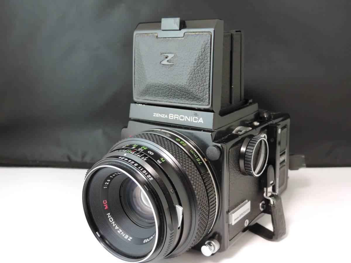 ZENZA BRONICA ゼンザブロニカ/中判カメラ/フィルムカメラ/ブラック/ETR/M52 27370/ZENZANON MC/f=75㎜/f:2.8/T186_画像2