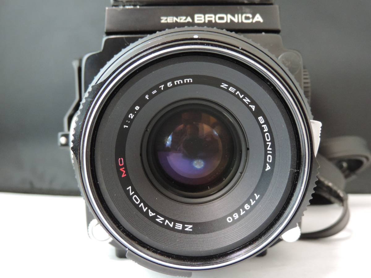 ZENZA BRONICA ゼンザブロニカ/中判カメラ/フィルムカメラ/ブラック/ETR/M52 27370/ZENZANON MC/f=75㎜/f:2.8/T186_画像3