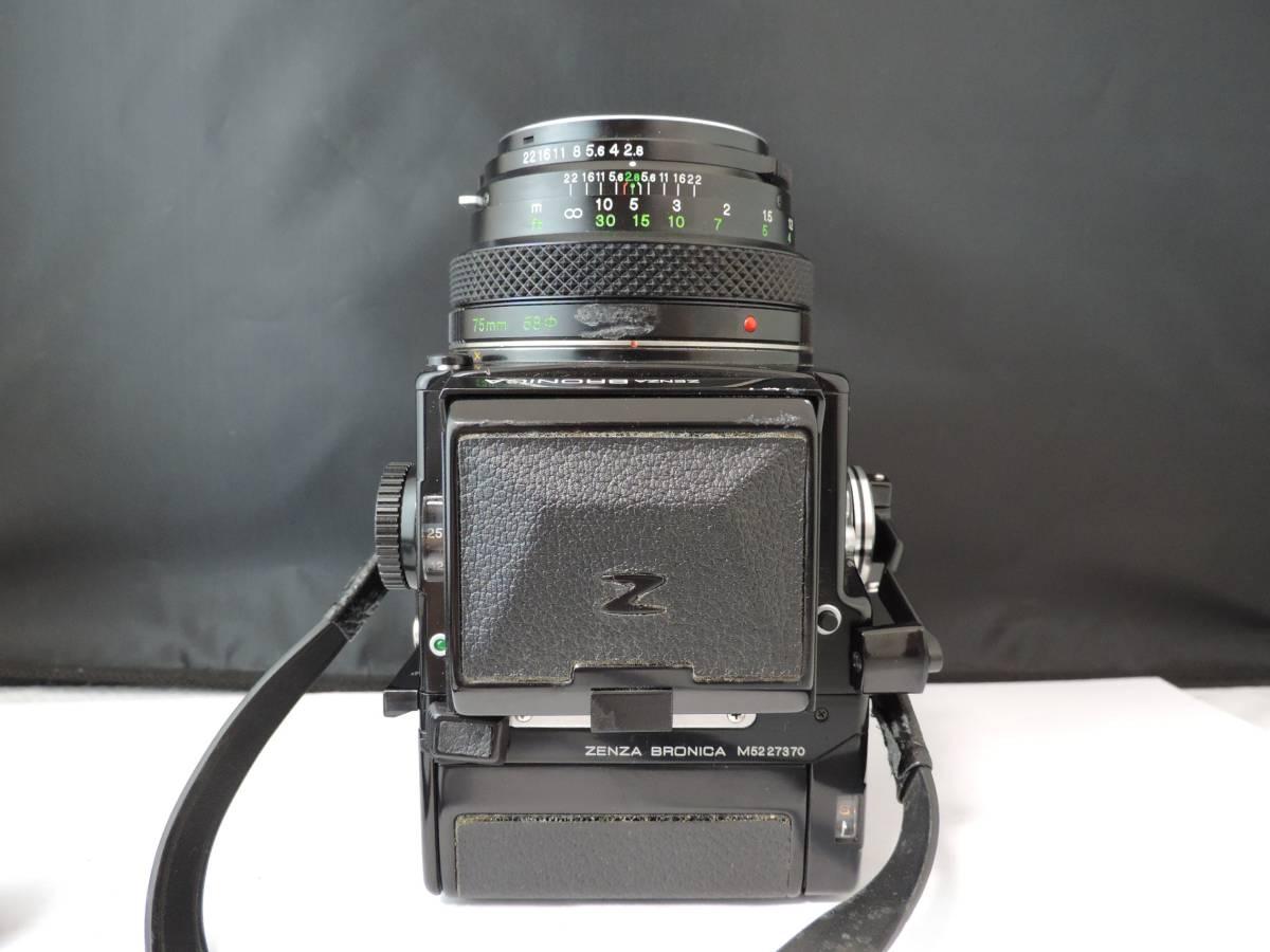 ZENZA BRONICA ゼンザブロニカ/中判カメラ/フィルムカメラ/ブラック/ETR/M52 27370/ZENZANON MC/f=75㎜/f:2.8/T186_画像6