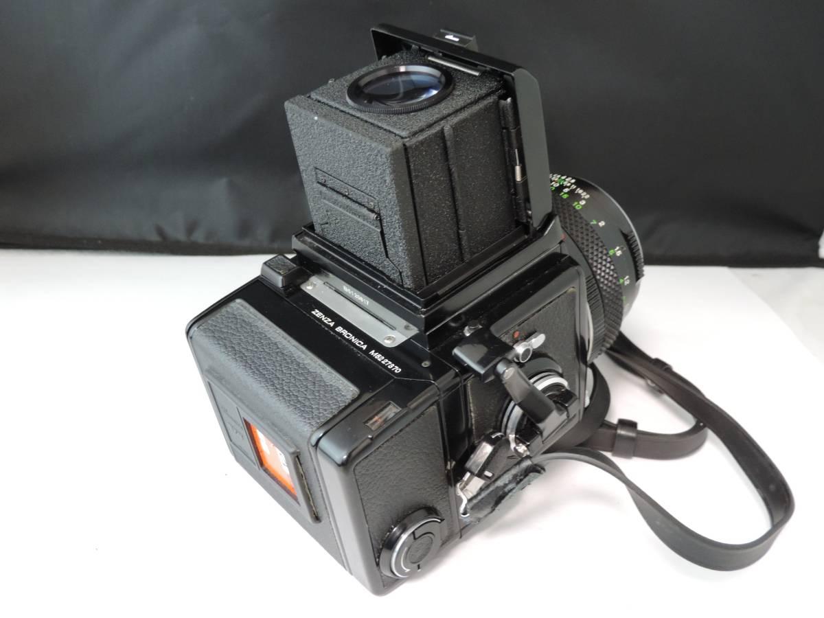 ZENZA BRONICA ゼンザブロニカ/中判カメラ/フィルムカメラ/ブラック/ETR/M52 27370/ZENZANON MC/f=75㎜/f:2.8/T186_画像10