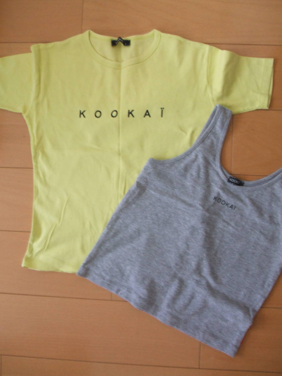 ★KOOKAIクーカイ☆半袖Tシャツ&タンクトップ2枚セット☆size1★ _画像1