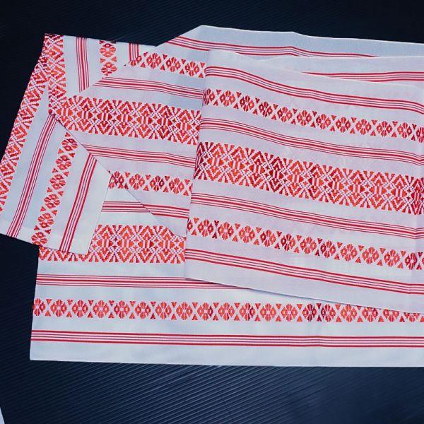 【着物のNext】0635 夏帯 紗献上 ポリエステル 化繊 正絹八寸名古屋帯 美品_画像3