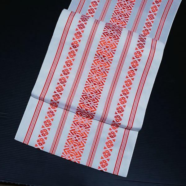 【着物のNext】0635 夏帯 紗献上 ポリエステル 化繊 正絹八寸名古屋帯 美品
