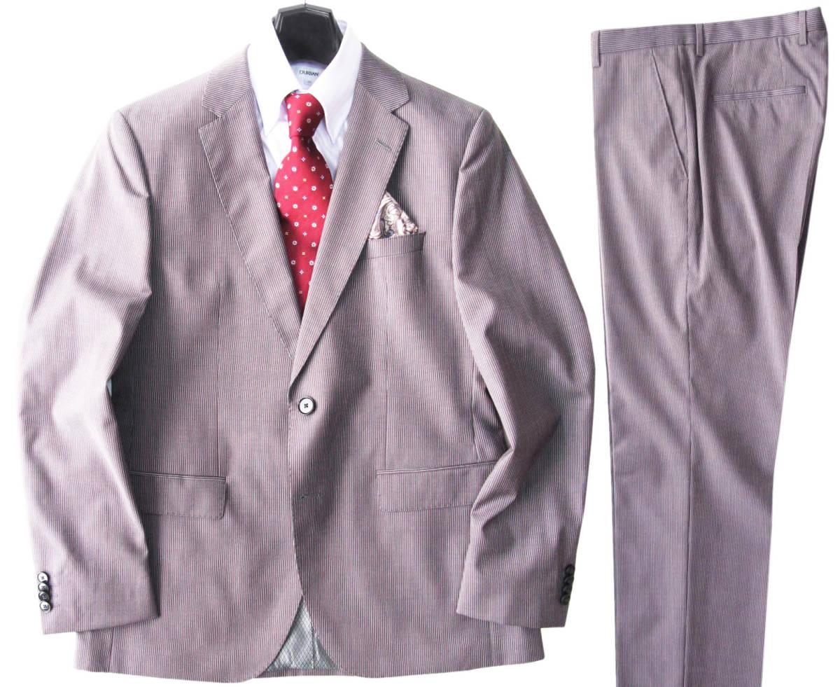 ◆新品 本物◆HUGO BOSS ドイツ製! 2釦 スーツ 20万円 ◆◆ バージンウール100% 素材 ◆◆