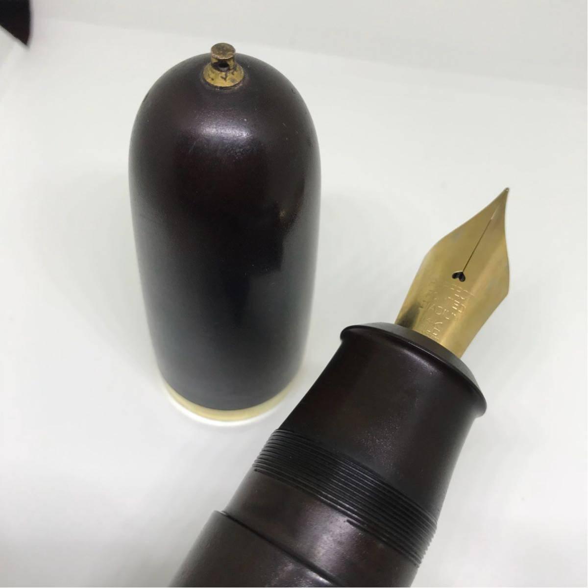 超極太軸エボナイト製万年筆